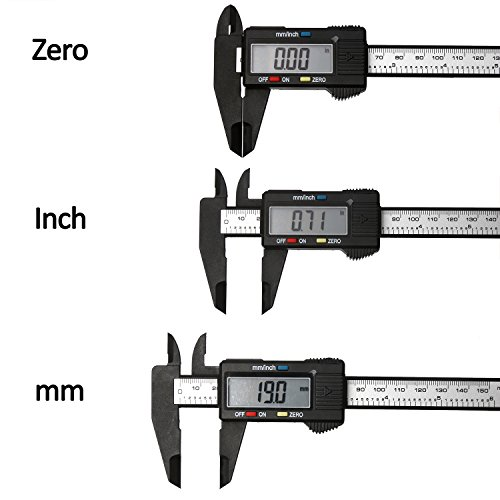 "Digital Vernier Bremssattel - 150mm 6"" elektronischer LCD Bildschirm Kunststoff Messschieber Messgerät Mikrometer Lineal Carbon Faser Mikrometer Messwerkzeug Zoll / metrische Umwandlung"
