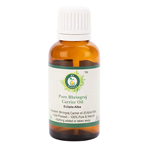R V Essential Huile de Bhringraj pur 30ml (1.01oz) - Eclipta Alba (100% pur et Série d'herb rares naturelles) Pure Bhringraj Oil