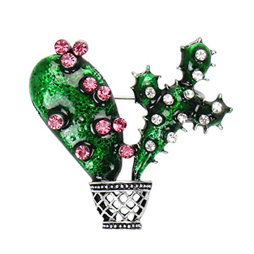 ABOOFAN 1PC Hawaii Cactus Breastpin Creative Women Brooch Unique Brooch Pin Costume Props Decoration Small Gift for Party Banquet Party Favor