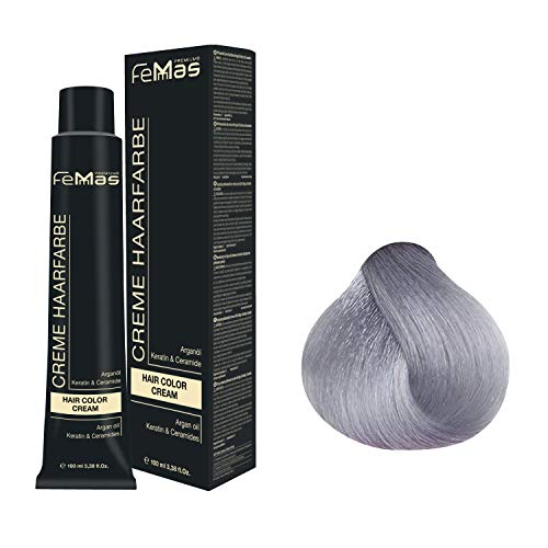 Femmas Hair Color Cream 100ml Haarfarbe (Pure&Mix Silber)