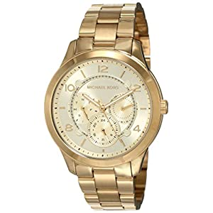 Michael Kors – Reloj de Pulsera para Mujer, cronógrafo, Tono Dorado,