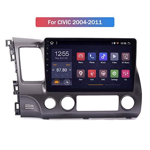 HP CAMP Android 9.1 8 Core Auto Multimedia für Honda Civic 2004-2011, Supporta la Fotocamera di Backup/Microfono/CarPlay/DSP/Bluetooth 5.0 / SWC/mappe Offline Online,WiFi 4g+64g