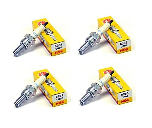 Suzuki 600-750-1000-1100 GSXR-HAYABUSA-600 GSR-650 BANDIT-600-900 RF-Lote de 4 bujías NGK CR9E