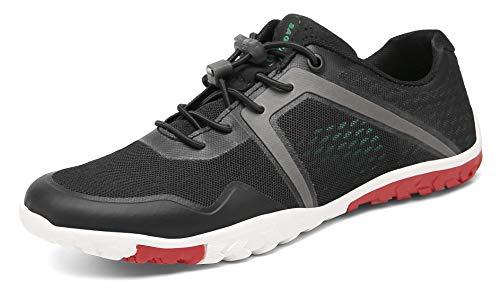SAGUARO Zapatos Descalzo Hombre Mujer Calzado de Trail Running Antideslizante Zapatillas Deportes Ligero para Correr Fitness Gimnasio Asfalto Senderismo Caminar, 069 Negro, 43 EU