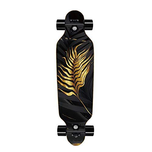 Longboard Special Edition Komplettboard mit High Speed ABEC 7 Kugellagern Ahorn Longboard, Länge 80cm - Breite 20cm - Gewicht 3 kg, Gefertigt aus 8 Lagen Ahornholz Konstruktion,B