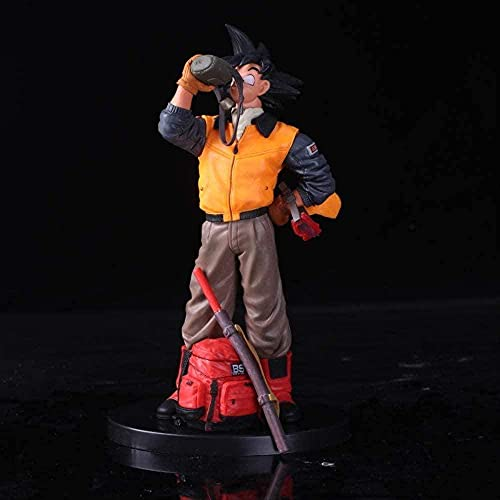Huhu Dragon Ball Z Goku Chaquetas Life Travel Scenes Ver Figura de acción 20Cm Gohan Father Super Saiyan Modelo de Chocolate
