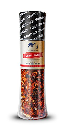 Chili Spice Seasoning Giant Grinder 165g/ 5.82oz from Silk Route Spice Company Easy to Use Giant Grinder