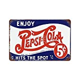 XREE Vintage Pepsi Cola Logo 2 Art Blechschild Vintage