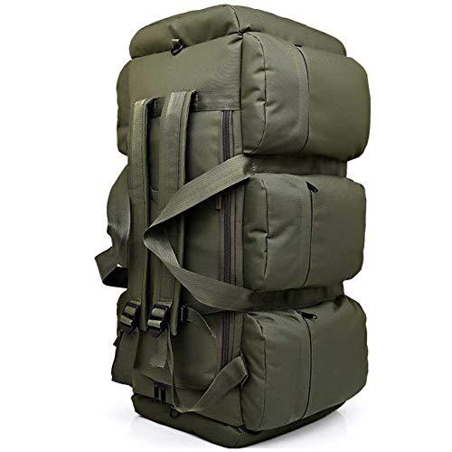 TYOLOMZ 90L Large Capacity Men Backpack Waterproof Oxford Trekking Camping Rucksack Wearable Travel Bag
