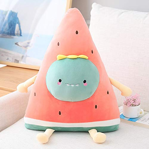 Watermelon Plush Toy Soft Doll Cartoon Fruit Penguin Bear Rabbit Pillow Sofa Cushion Child Girl Birthday Home Decoration Without Battery 50cm