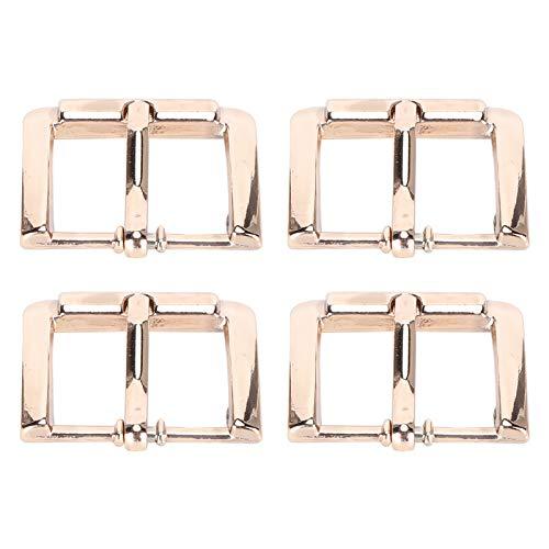 Hebilla de cinturón de cuero, 4 piezas Hebilla de cinturón de aleación Accesorios de bricolaje de cuero Una sola punta para reemplazo de rompevientos con correa de cuero - 20 mm(bronze)