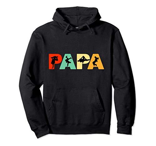 Retro Hiphop Dancer Dancer Dad, Funny Papa Hiphop Dancing Felpa con Cappuccio