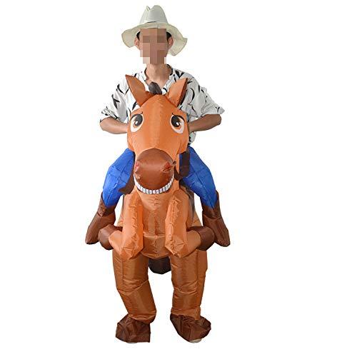 LOVEPET Pferd Ritter Stil Aufblasbare Kostüm Maskerade Requisiten Erwachsene Berg Lustige Kostüm Erwachsene Kostüm Walking Party Parodie Requisiten