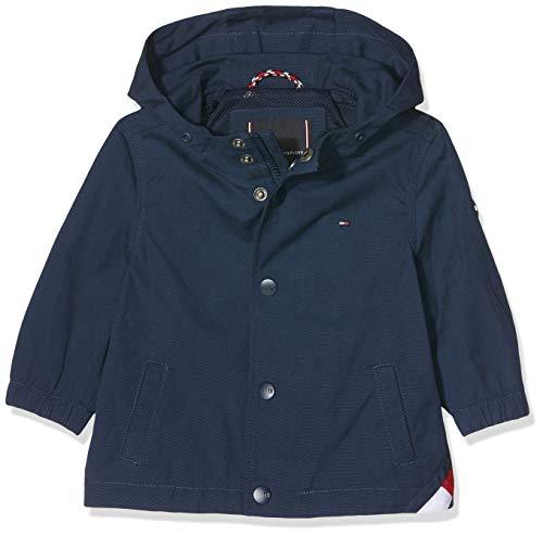 Tommy Hilfiger Baby-Jungen Hooded Coach Jacket Mantel, Blau (Black Iris 002), (Herstellergröße:74)