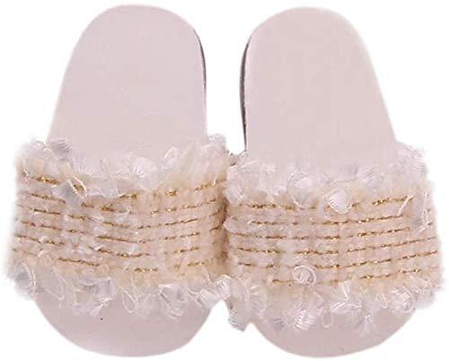 Yeaser Muñeca Zapatillas Playa Zapatos Sandalias Floral Verano Zapatillas Para 46 cm/18 in American Doll Traje Accesorio