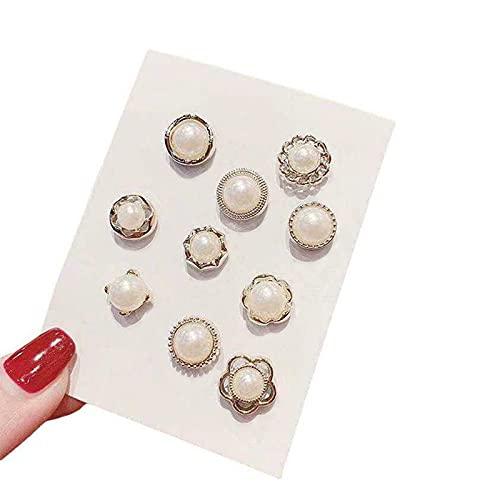 Juego de botones con diseño de perlas. Mini broche, insignias, botones para camisas, vestidos, cárdiga, collar de seguridad, gemelos, bolsas de ropa, accesorios, suministros para manualidades (mezcla)