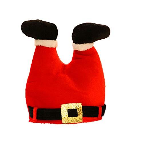 Asien 1set Weihnachten Lustigen Hut Kreative Weihnachtsmann Beine Hosen Cap Multi-funktions-weihnachtsdekor-weihnachtsmann-kostüm-zusatz-Partei-kostüm Für Erwachsene Kinder