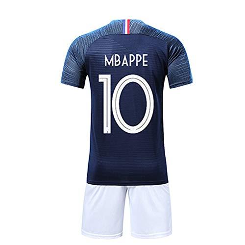 Material: poliéster. Tipo de deporte: fútbol. Características: antiencogimiento, compresión, antiarrugas, de secado rápido, transpirable, antipilling. Para niños y niñas. Tipo de proyecto: camiseta de la Copa del Mundo de Francia.