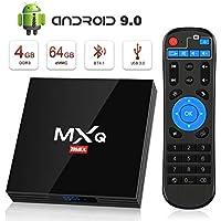 Android 9.0 TV Box [4GB RAM+64GB ROM], Superpow Android Box TV 4K, USB 3.0, BT 4.1, UHD H.265, HDMI, Smart TV Box Quad Core WiFi Media Player, Box TV Android