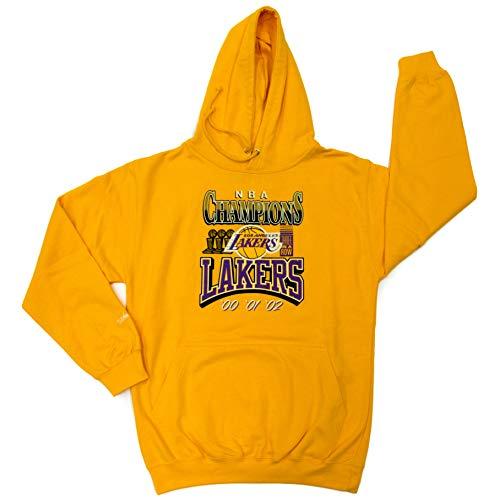M&N NBA Champion - Felpa con cappuccio LA Lakers La Lakers, giallo L