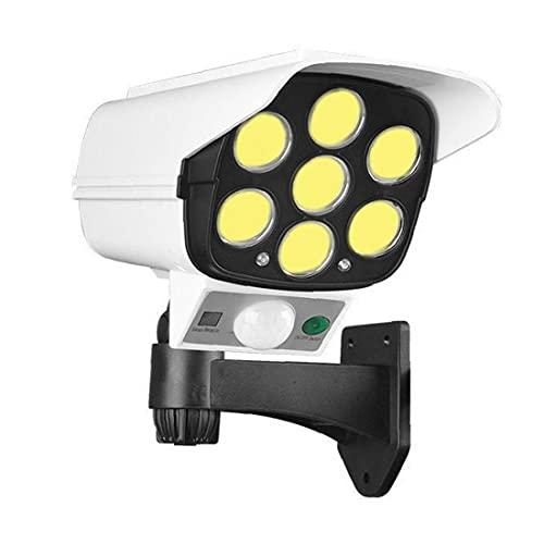 Tuimiyisou 77cob con Control Remoto Simulación Monitoreo Cámara Falsa Solar del Cuerpo Humano Inducción Luz del Jardín