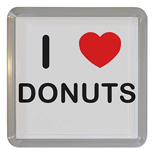 I Love Heart Donuts - Montaña de té de plástico transparente/posavasos