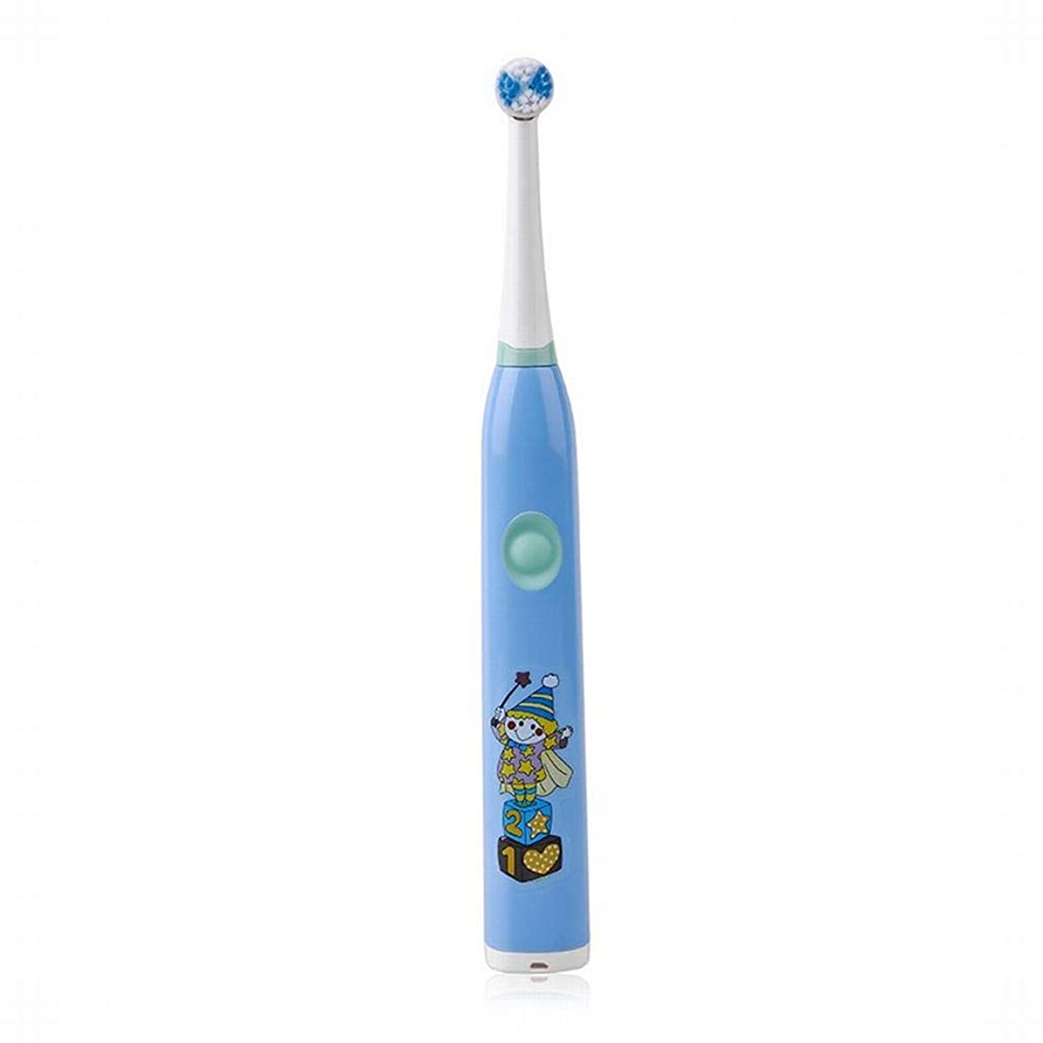 エゴイズムモールソーシャルLKJASDHL USB充電式キッズ音楽全自動歯ブラシソニック電動歯ブラシ歯ブラシヘッド電動歯ブラシヘッド交換用歯ブラシヘッドバッテリー歯ブラシ (色 : 青)