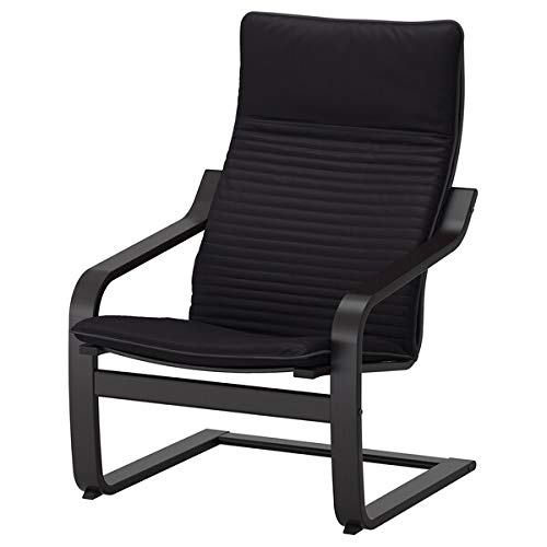 POÄNG Poltrona, marrone-nero, antracite, 68x83x100 cm resistente e di facile manutenzione. Poltrone in tessuto. Poltrone e chaise longue Divani e poltrone. Mobili. Ecologico. 68x83x100 cm Knisa Nero