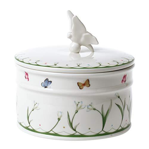 Villeroy & Boch Colourful Spring Tarro, Porcelana Dura, Blanco, 16 cm