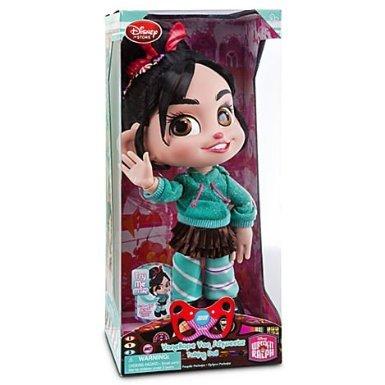 4KIDS Toy / Game Cute Disney Wreck-It Ralph Vanellope Von Schweetz Talking Doll - 12'' H with Glitter Accents