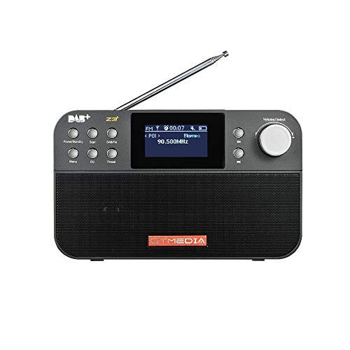 GTMEDIA Z3 Radio DAB +   FM portatile, trasmissione radio audio digitale con batteria 18650 ricaricabile, supporto display RDS nome stazione FM, timer snooze sleep, display da 2,4 pollici