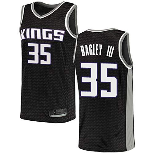 XIAOHAI Uomo NBA Maglie -Sacramento re # 35 Marvin Bagley III Respirabile Freddo di Tessuto Traspirante Wear Resistant Vintage Basketball Maglie Top T-Shirt,S