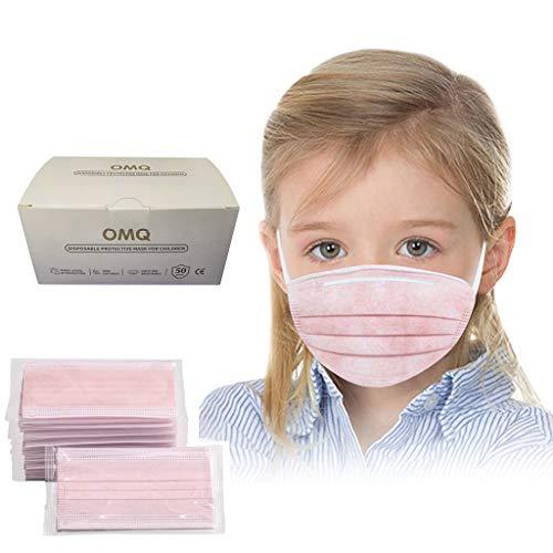 50 Stück Face Shield Gesichtsschutz Für Kinder Jungen Mädchen, Individuelles Paket Mundschutz, Half Face Visier Gesichtsschutz, Gesichtsschutzschirm, Schutzvisier, Safety Gesichtsschutzschild (Rosa)