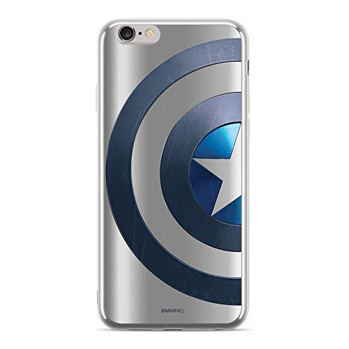 Finoo Mobile Phone Case Compatible with Samsung Galaxy S9 - Marvel Mobile Phone Case with Motif and Optimum Protection TPU Silicone Case Cover Protective Cover - Captain America Shield Side