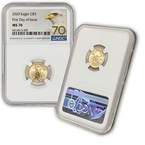 2020 1/10 oz Gold American Eagle MS-70 NGC (First Day of Issue) by CoinFolio $5 MS70 NGC