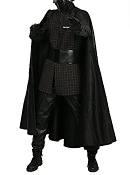 Kylo Ren Costume Adult Outfit Suit for Halloween Cosplay Golden Line M