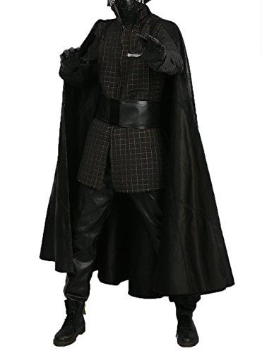 Kylo Ren Costume Adult Outfit Suit for Halloween Cosplay Golden Line XXL