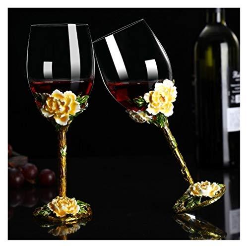 BENGKUI Decantador de Copa de Vino de Color de Estilo Europeo de Estilo de Vino Personalidad Creativa para el hogar Copa de Regalo de Cristal de Vidrio de Vidrio de Vino (Color : 2pcs Simple packagi)