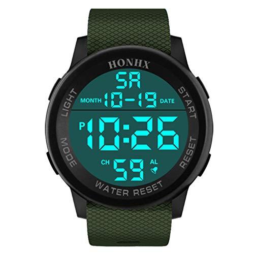 Reloj de Pulsera analógico Digital Militar Deportivo LED Resistente al Agua para Hombre