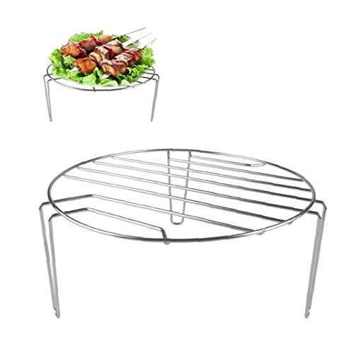 Mikrowelle Dampfer Rack-BBQ Grill-Rack Abtropfbrett Küchenhelfer Edelstahl Multipurpose Platte Tray Rack-organisieren