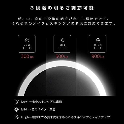 Xiaomi(シャオミ)AMIRO(アミロ)Miniシリーズ『ライティングメイクアップミラー(AML004)』