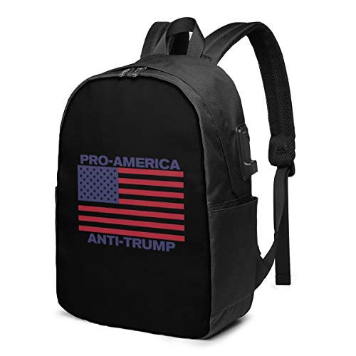 XIAOSU Pro America Anti-Trump 2 Garden Laptop Backpack with USB Charging Port, Business Bag, Bookbag | Fits Most 17 Inch Laptops and Tablets