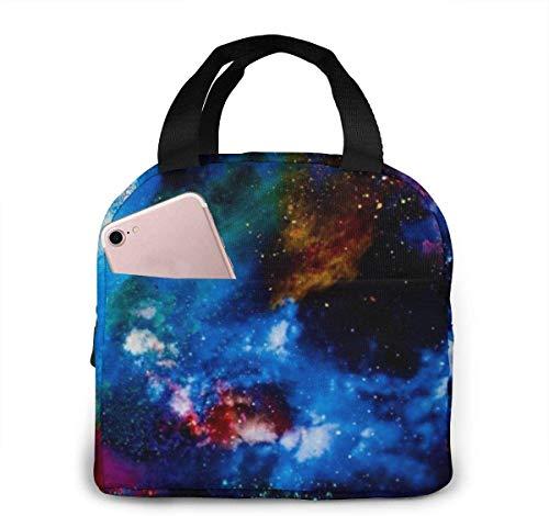Bolsa de almuerzo Galaxy Space para mujeres,niñas,niños,bolsa de picnic aislada,bolsa gourmet,bolsa cálida para el trabajo escolar,oficina,camping,viajes,pesca