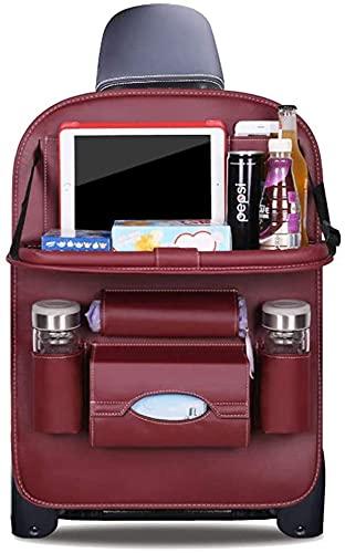 Organizador de automóviles, Travel Kick Mat, Asiento de coche Atrás Organizador Plegable Mesa de comedor Bandeja Botellas Titular de botellas Protector multifuncional Bolsa de almacenamiento Patada Ma