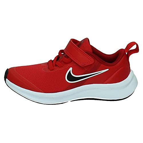 Nike Star Runner 3, Zapatos de Tenis Unisex niños, University Red Black Gym Red White, 33 EU
