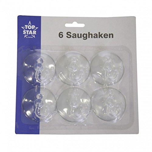 Saughaken klar Schwenkhaken 6 Stück 5,5 cm