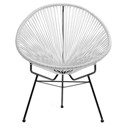 Paris Prix - Fauteuil De Jardin scoubidoo Design Blanc