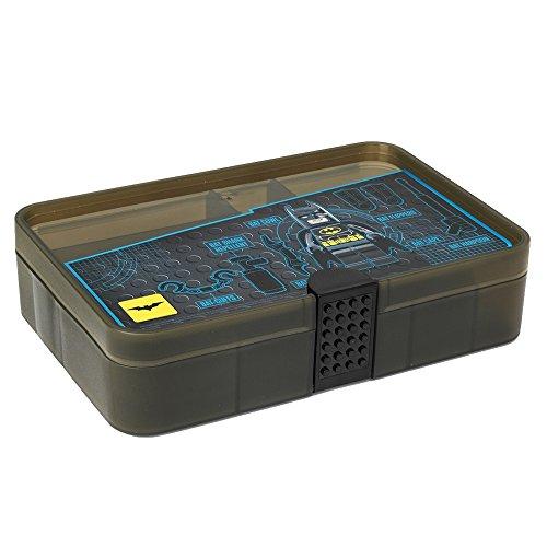 LEGO 4084 Caja de Almacenamiento, Contenedor con Compartimentos, Negro translúcido, Batman, Black, 17.8 x 26.7 x 6.6 cm