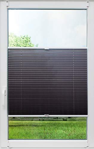 sunlines Crush, Tageslicht grau, 90x140 Klemmfix-Plissee, PES, 90 x 140cm