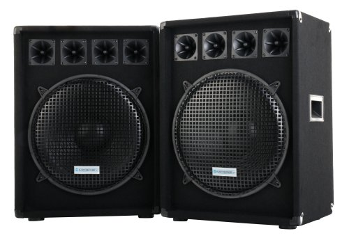 Paar McGrey DJ-1522 DJ PA luidsprekerbox 38 cm (15